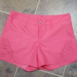 Athleta pink shorts sz 6